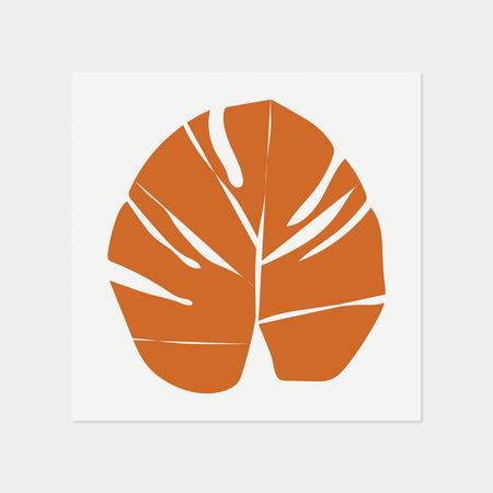 Barclay Haro Art Concepts Monstera - Orange