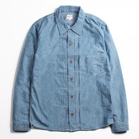 Momotaro Jeans 1st Type Chambray Shirt - Blue