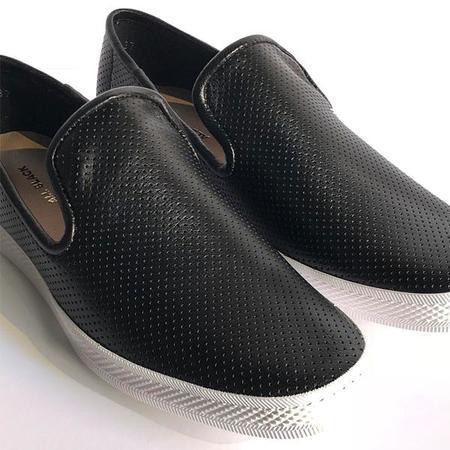 All Black Pindot Sneaker