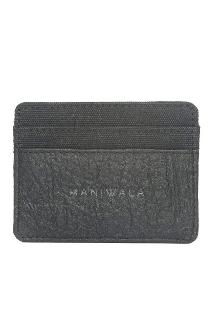 Maniwala Hemp and Pinatex Cardholder - Black