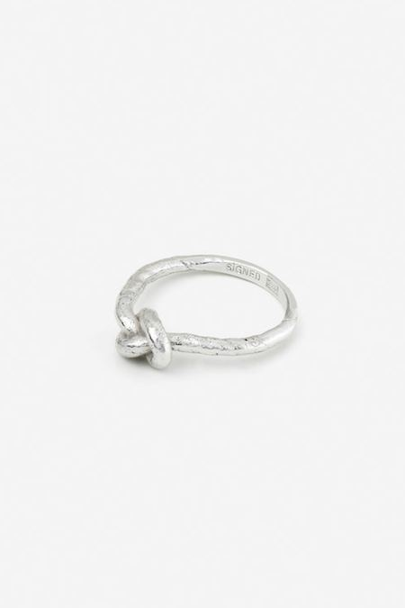 Signed Silver Knot Ring