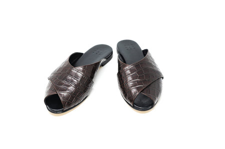 Trademark Faux Croc Sandal - Chocolate Brown
