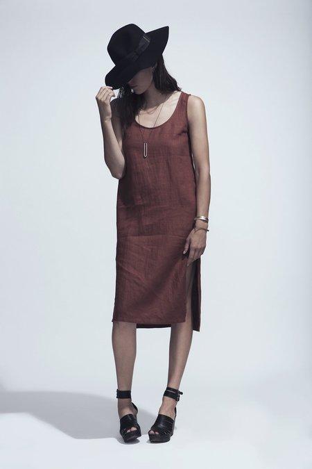 Ursa Minor Studio Chao Linen Dress - Rust