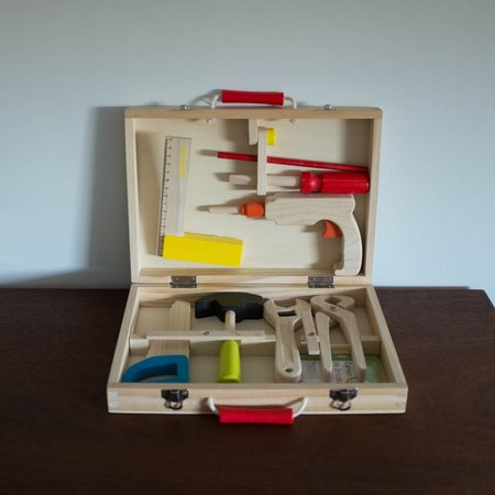 "Kids Moulin Roty "" I am Working"" Wooden Tool Valise Set"
