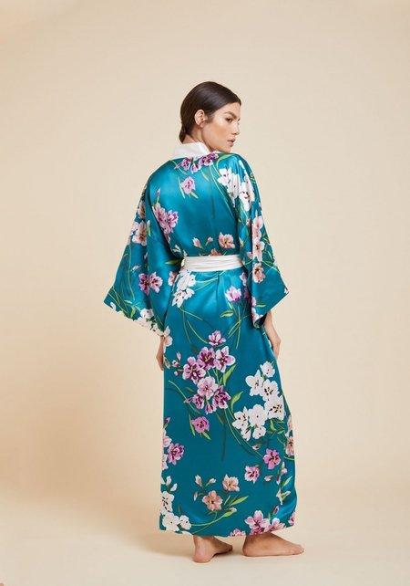 Olivia Von Halle Queenie Barbara Kimono Robe - Multi