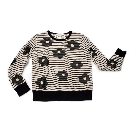 Henrik Vibskov Flora Knit Sweater - Black Flowers
