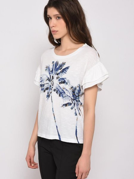 Leon & Harper Temptation Palm T-Shirt - White