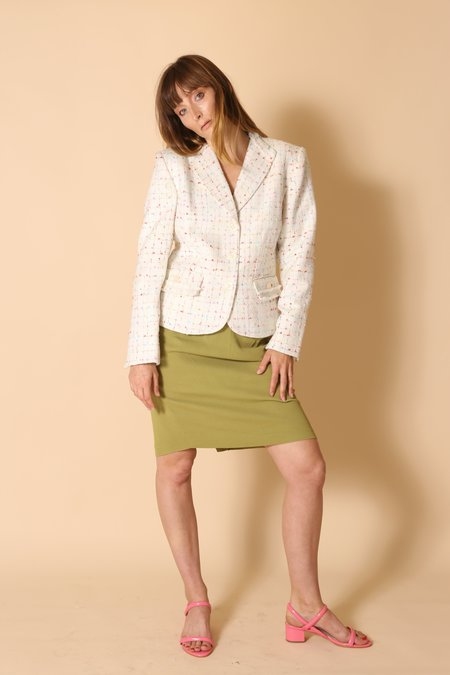 """""""Intentionally __________."""" Archive 1446 The Summer Tweed Blazer"""