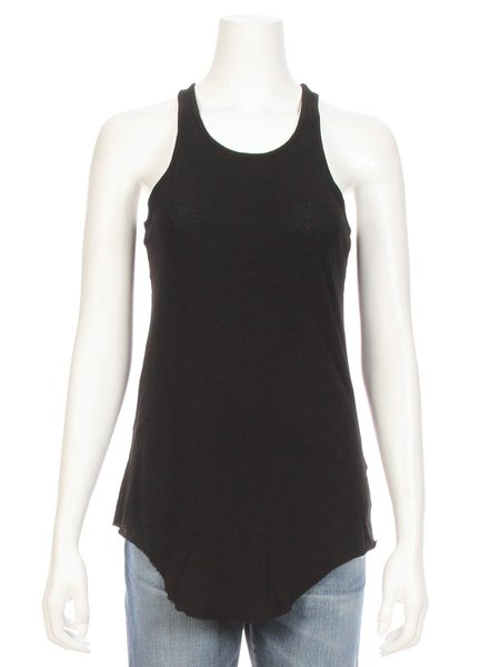 TEE LAB by FRANK & EILEEN High Neck Round Bottom Tank - Blackout