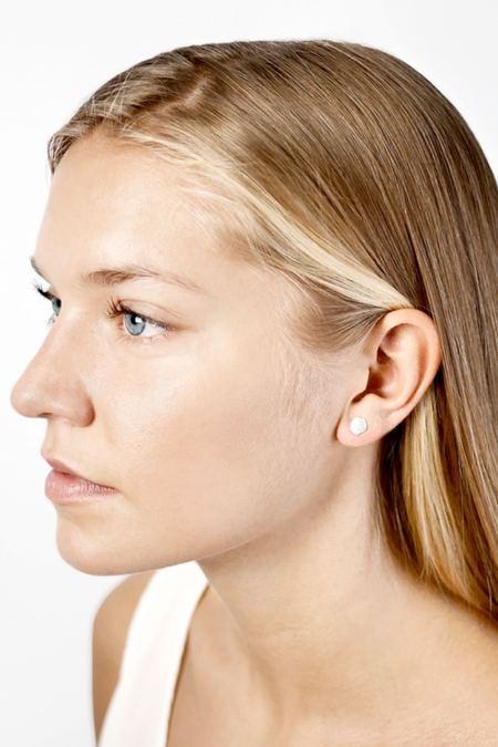 Signed Silver Dot Earrings