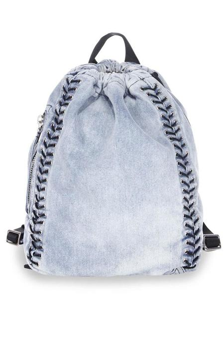 3.1 Phillip Lim Denim Eyelet Lacing Go Go Knapsack