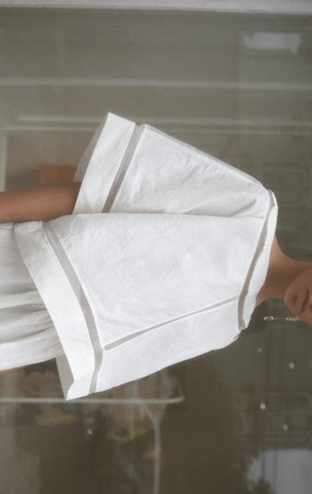 Gabriela Alexandrova Geometric Top - White