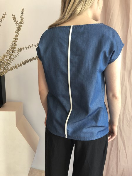 Josiane Perron Short Sleeved Top - Bleu