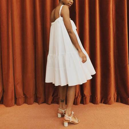 Creatures of Comfort Tobias Dress - White
