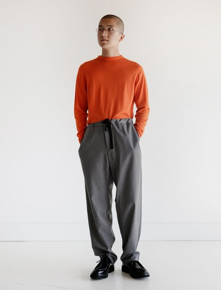Leon Bara Graph Wool Cover Chino Pants - Grey
