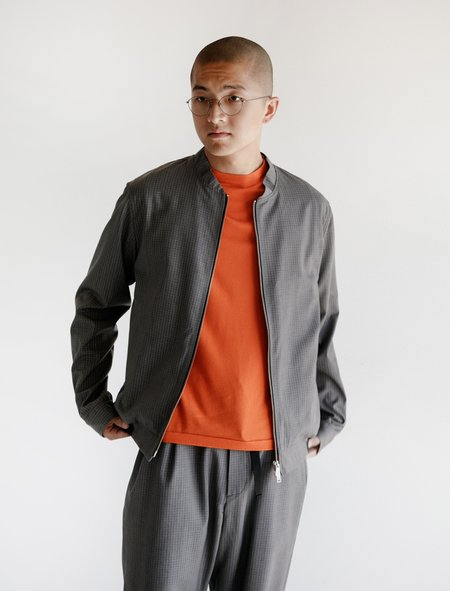 Leon Bara Vent Bomber Graph Wool Jacket - Grey