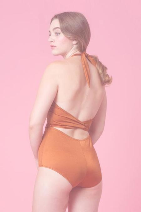 Samantha Pleet Flute Swimsuit - Copper