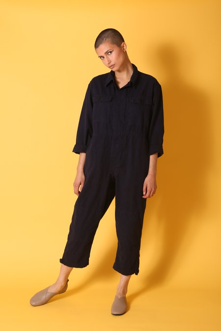 """INTENTIONALLY __________."" Vintage ARCHIVE 1017 JUMPSUIT - INDIGO"