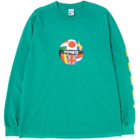 Powers Global Flag Long Sleeve T-Shirt - Emerald