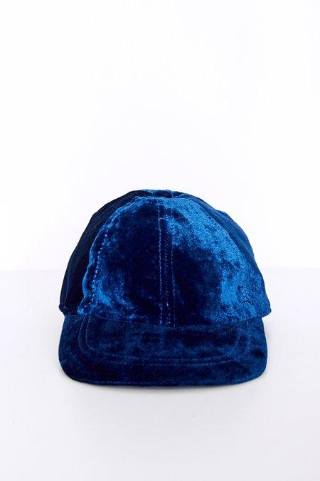 Colorant Velvet Fitted Cap - Indigo