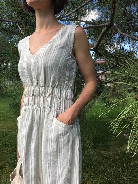 modaspia Fiji Dress - Sage Stripe Linen