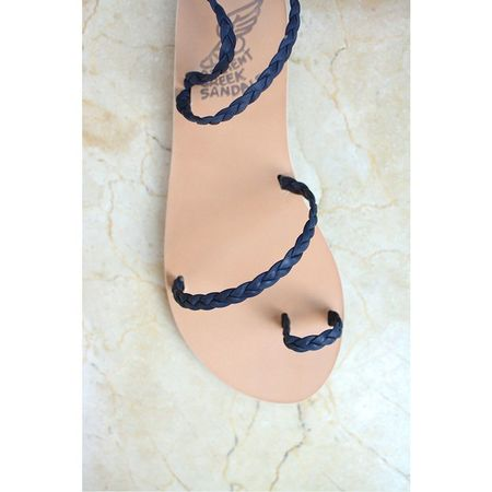 Ancient Greek Sandals Eleftheria braided sandals - navy