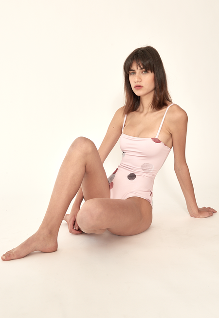 Collar Serenity swimsuit - Faded Pink