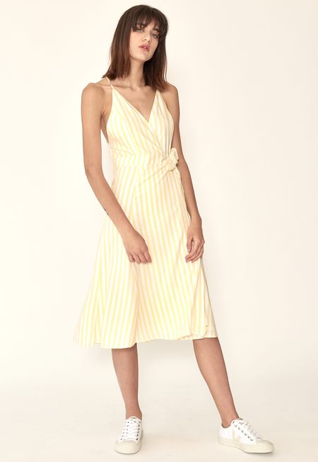 Capulet Simona Wrap Dress - Yellow Stripes