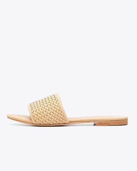 Nisolo Isla Slide Woven Sandal - Beige