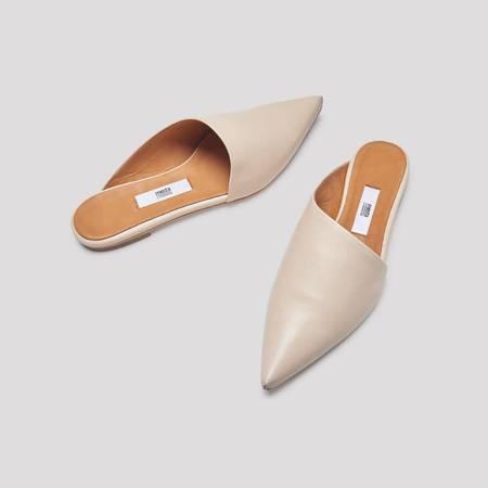 Miista Marlena Leather Flats - Oat