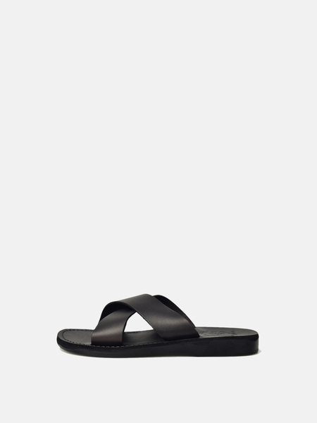 Jerusalem Sandals Elan Slip-on Sandal - BLACK