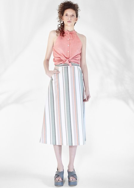 Chistine Alcalay A-Line Skirt - Striped