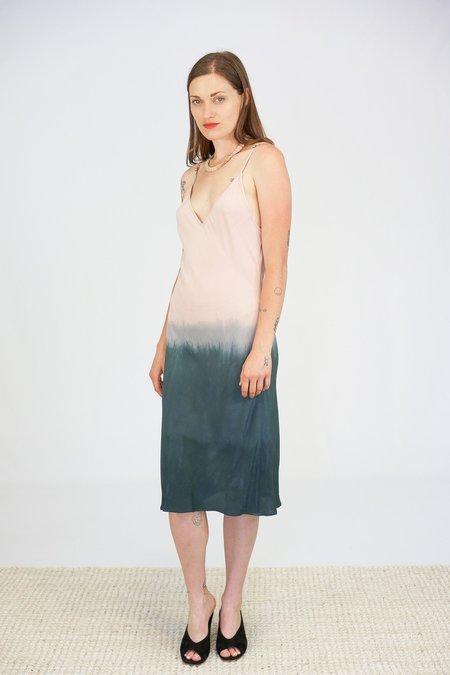 Jill Aiko Yee Hand Dipped Harmony Bias Dress - Pink to Grey