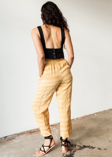 OR Elastic Pant - Yellow Striped Rayon