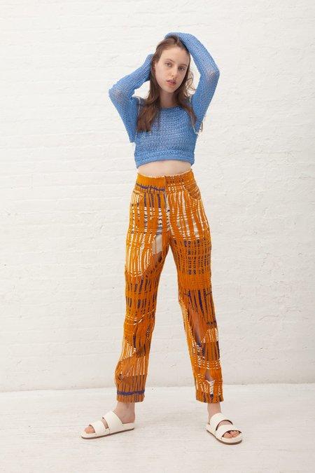 Luna Del Pinal Trousers - Gold/Indigo