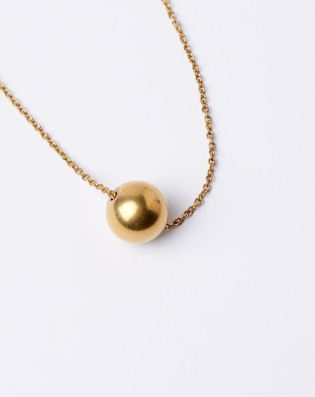 Ak Studio Atom Necklace - brass