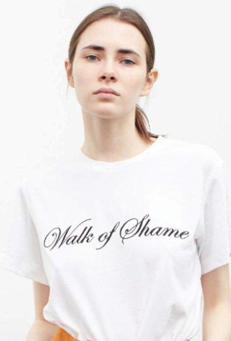 Walk of Shame Classic T-shirt - White/Black Logo