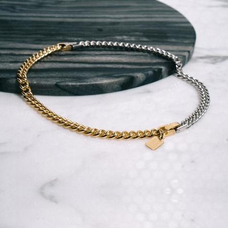 Alynne Lavigne Two Tone Curb Convert Necklace