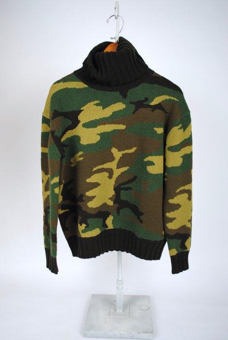 Nili Lotan Ponce Turtleneck Sweater - Camouflage