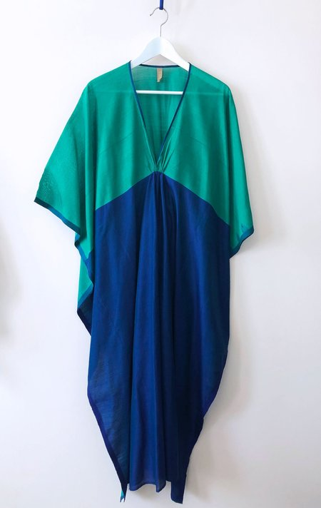 Two New York Caftan - Green and Blue