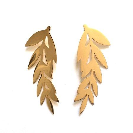 Haartstick Full Leaf Earrings
