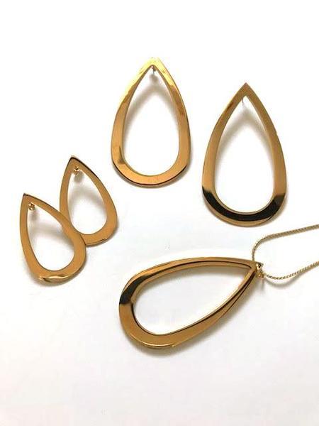 Haarstick Teardrop Necklace - Gold