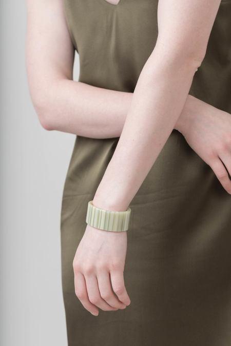 Machete Lou Cuff - Vert Stripe