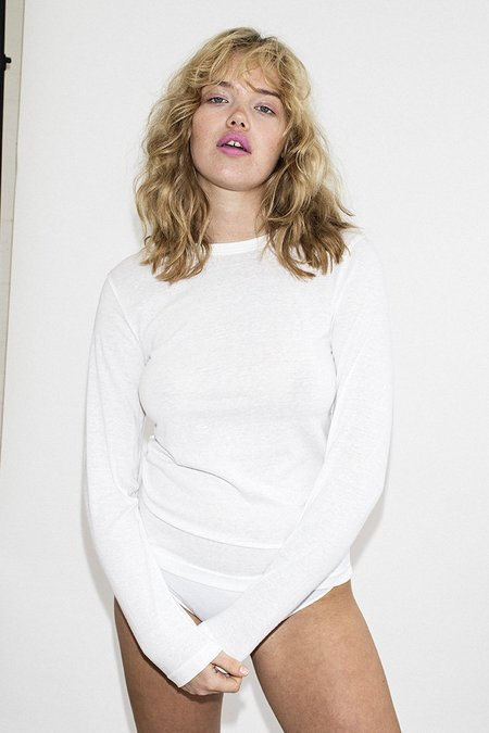 ROLLA'S Long Sleeve Miller T-shirt - White