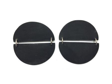 Hello Zephyr Moon Earrings - Black