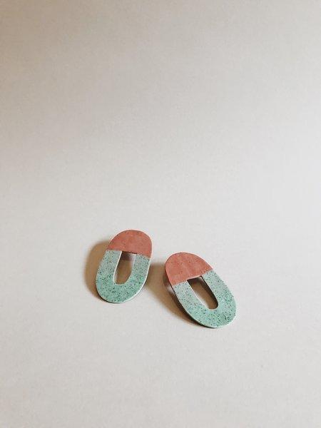 Hello Zephyr Earrings - Red/Green