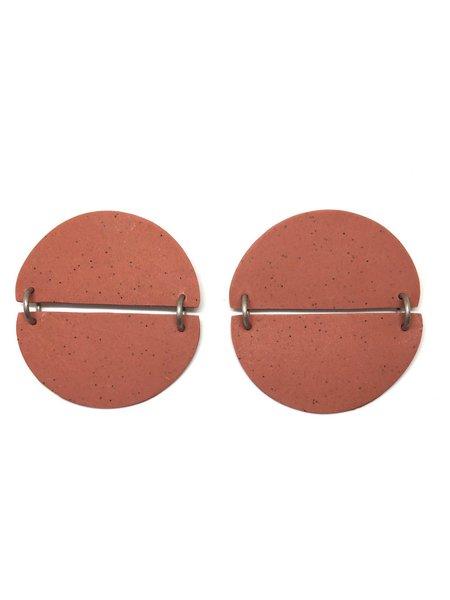 Hello Zephyr Moon Earrings - Red