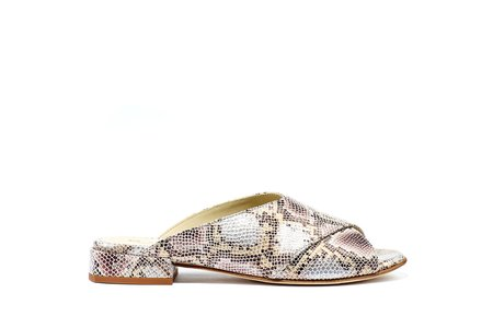 Ouigal Kourtney Sandal - Lilac Snake