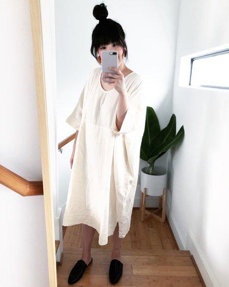 Atelier Delphine Ella Dress - Cream Wrinkled Cotton