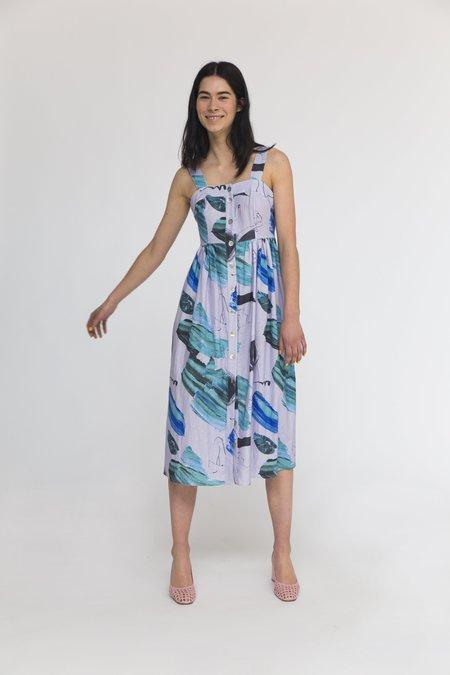 Heinui Sol Dress - Lilac Print